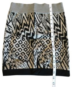 Guess Mini Mini Skirt Tan and Black