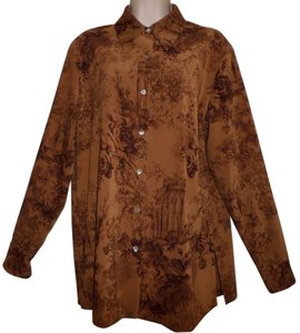 Soft Surroundings Button Down Shirt Brown