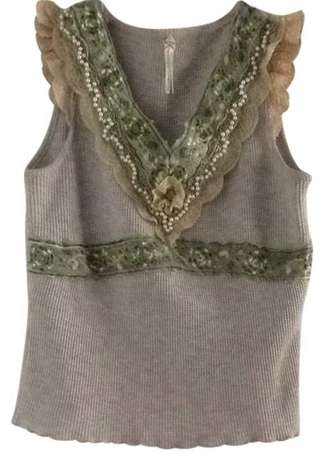 Preload https://item5.tradesy.com/images/free-people-gray-and-green-t-shirt-1134064-0-0.jpg?width=400&height=650