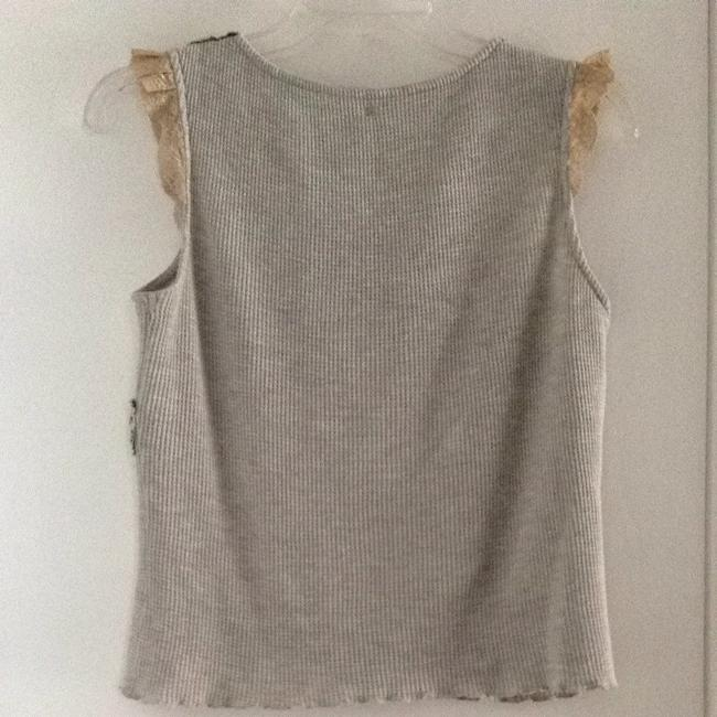 Free People T Shirt Gray & Green