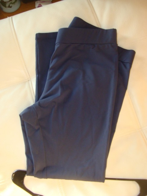 Matty M Solid Blue NAVY Leggings Image 1
