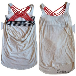 Lululemon New With Tags Lululemon Wild Tank Angel Wing Bold Stripe Size 4