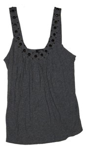 Express Top Gray Studded