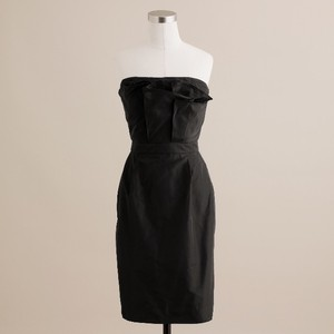 J.Crew Black Silk Taffeta Mika Dress