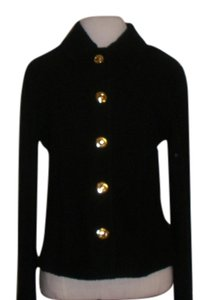 St. John Gold Hardware Button Down Shirt Black