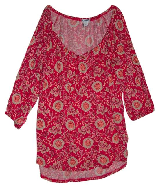 Preload https://item3.tradesy.com/images/old-navy-coraltanpink-flowers-tunic-size-8-m-1134162-0-0.jpg?width=400&height=650
