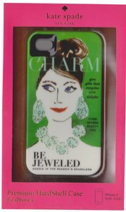 Kate Spade Kate Spade Hardshell Green Charm Bejeweled iPhone 4/4S case
