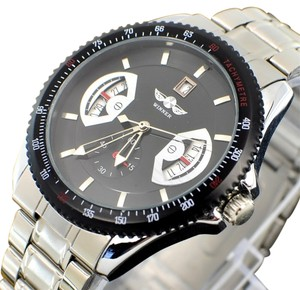 MCE Smart Looking Automatic Sport Watch With Black Face