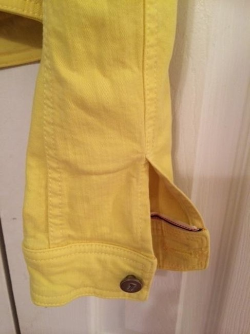 Anthropologie Yellow Womens Jean Jacket