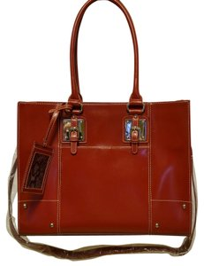 Wilsons Leather Tote in Scarlet Red