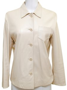 Miu Miu Cream Leather Jacket
