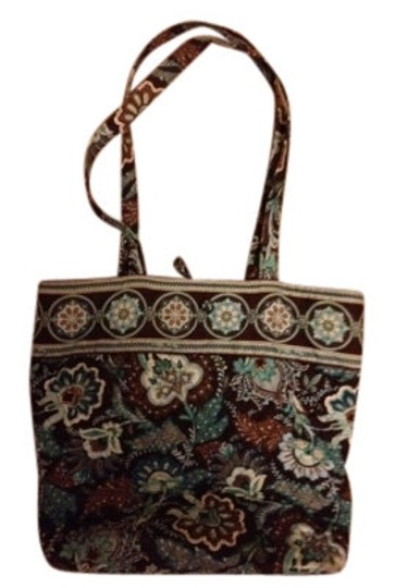 Vera Bradley Tote in Brown and Blue