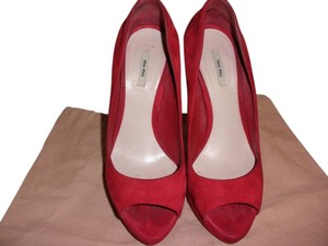 Miu Miu Suede Red Pumps