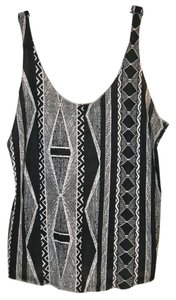 BDG Tribal Urban Outfitters Top black, cream