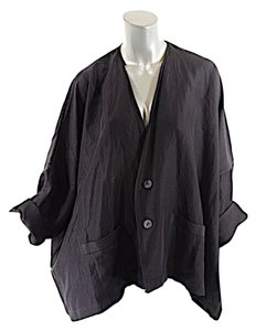 Shirin Guild Linen/silk Unlined Black Jacket