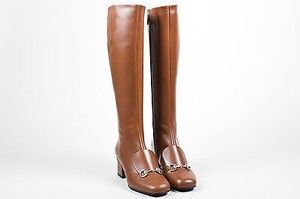 Gucci Nut Leather Brown Boots