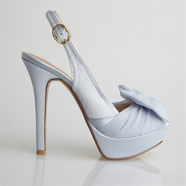Item - Blue Sample Elegant and Fun Platforms Size US 7.5