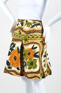 Moschino Cheap And Chic Brown Skirt Multi-Color