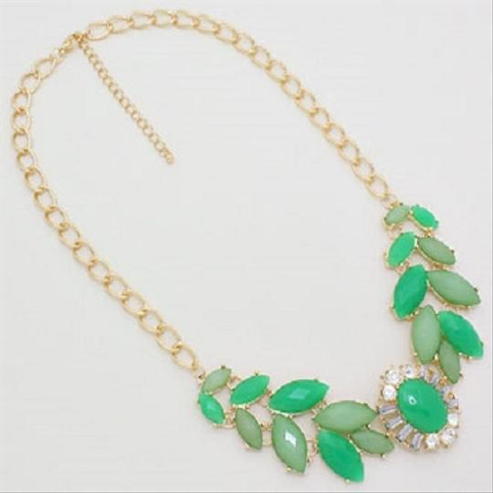 Other Green Statement Necklace and Earring Image 1