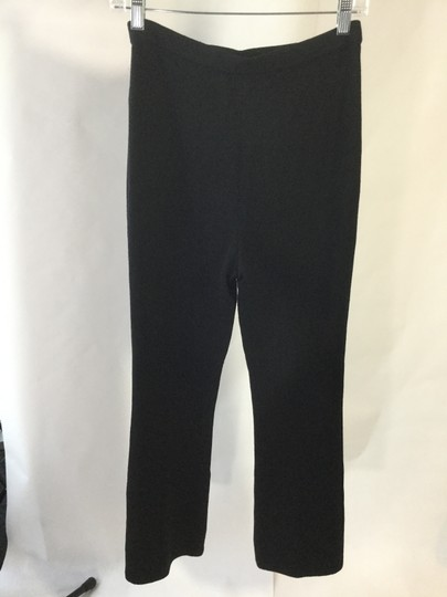 St. John Santana Knit Pleated Front Ankle Straight Pants delicate