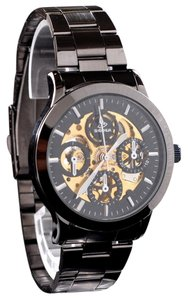MCE Automatic Black Face Skeleton Watch With Distinctive Look-FREE SHIPPING