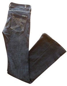 7 For All Mankind Pocket Detailing Boot Cut Jeans-Coated