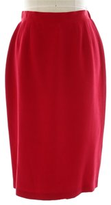 Dué Per Dué Silk Nwt Skirt Red