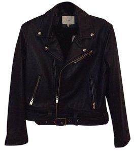 IRO Navy Blue Leather Jacket