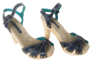 Marc Jacobs Chunky Sandal Blue Platforms