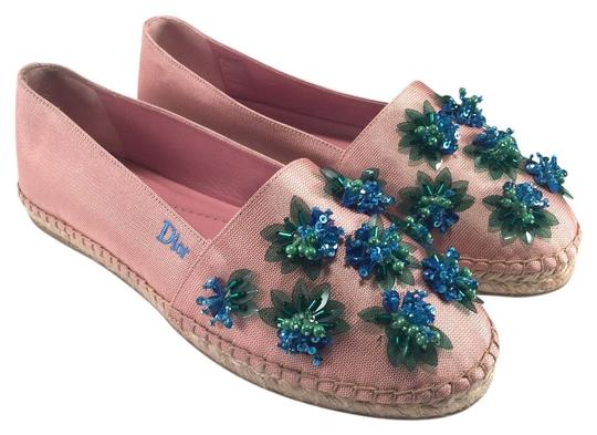 Preload https://img-static.tradesy.com/item/11345233/dior-pink-jeweled-flower-beaded-canvas-espadrilles-455-flats-size-eu-39-approx-us-9-regular-m-b-0-1-540-540.jpg