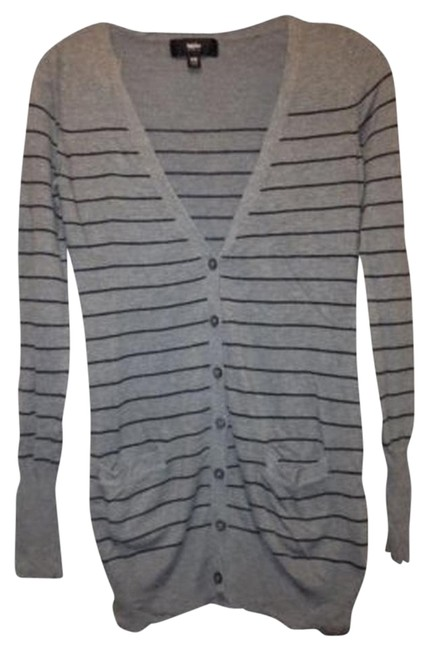 Preload https://item5.tradesy.com/images/mossimo-supply-co-grayblack-long-striped-cardigan-and-sweaterpullover-size-2-xs-113454-0-1.jpg?width=400&height=650