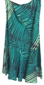 Express Midi Skirt Turquoise, black