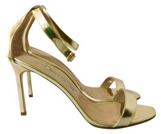 Manolo Blahnik Gold Sandals Image 1