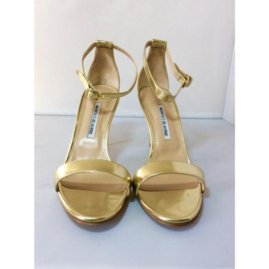 Manolo Blahnik Gold Sandals Image 2