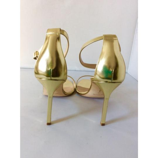 Manolo Blahnik Gold Sandals Image 5