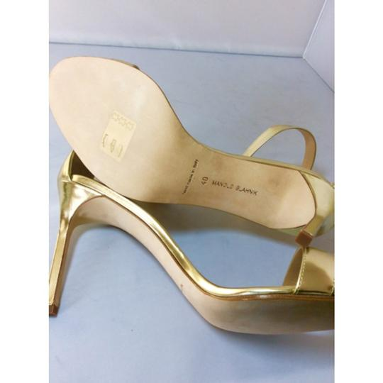 Manolo Blahnik Gold Sandals Image 6
