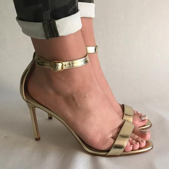 Manolo Blahnik Gold Sandals Image 8
