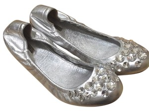 Miu Miu Silver with crystals Flats