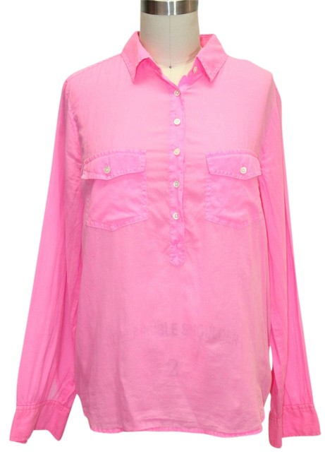 Preload https://item3.tradesy.com/images/jcrew-pink-pullover-button-up-neon-button-down-top-size-8-m-1134662-0-0.jpg?width=400&height=650