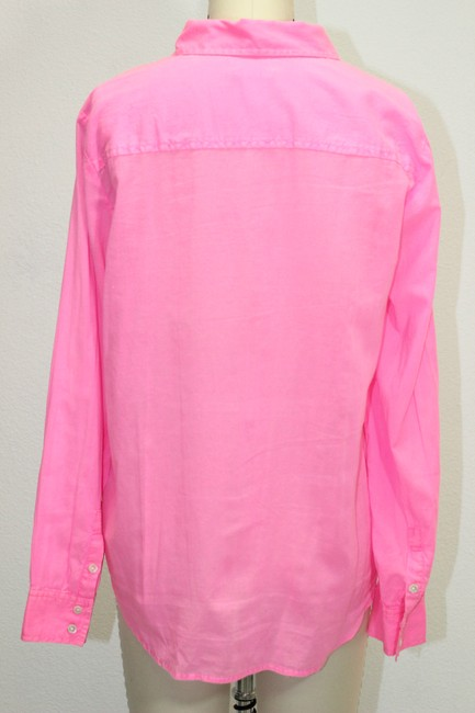 J.Crew Pullover Button-up Longsleeve Button Down Shirt Pink