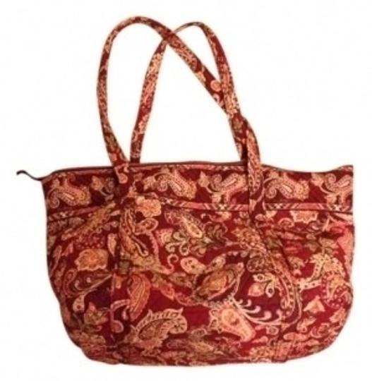 Preload https://img-static.tradesy.com/item/11347/vera-bradley-tote-with-zipper-maroon-and-pink-cotton-weekendtravel-bag-0-0-540-540.jpg