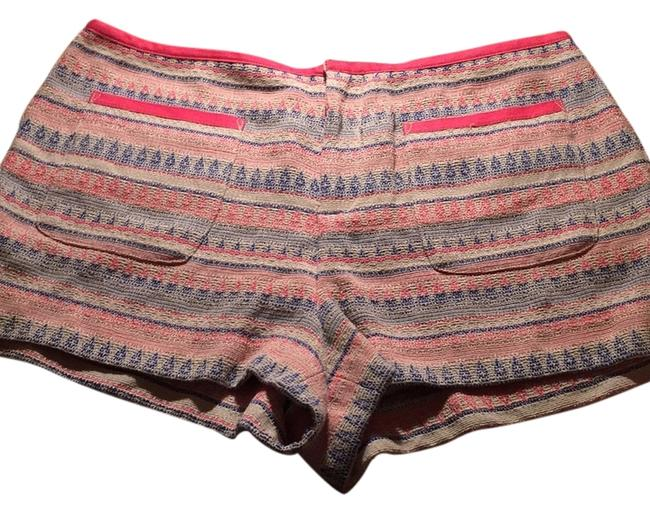 Rachel Roy Blue Pink Embroidered Shorts Size 8 (M, 29, 30) Rachel Roy Blue Pink Embroidered Shorts Size 8 (M, 29, 30) Image 1