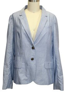 J.Crew Schoolboy Striped Blue Blazer