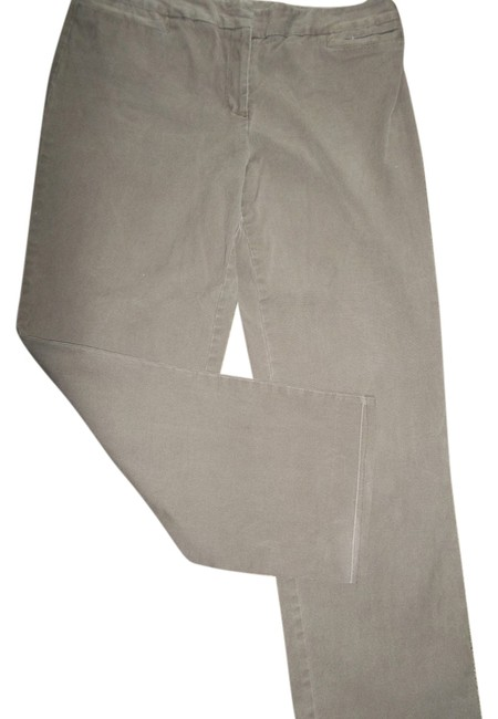 George Size 14 4 Pocket Comfortable Chinos Straight Pants Brown