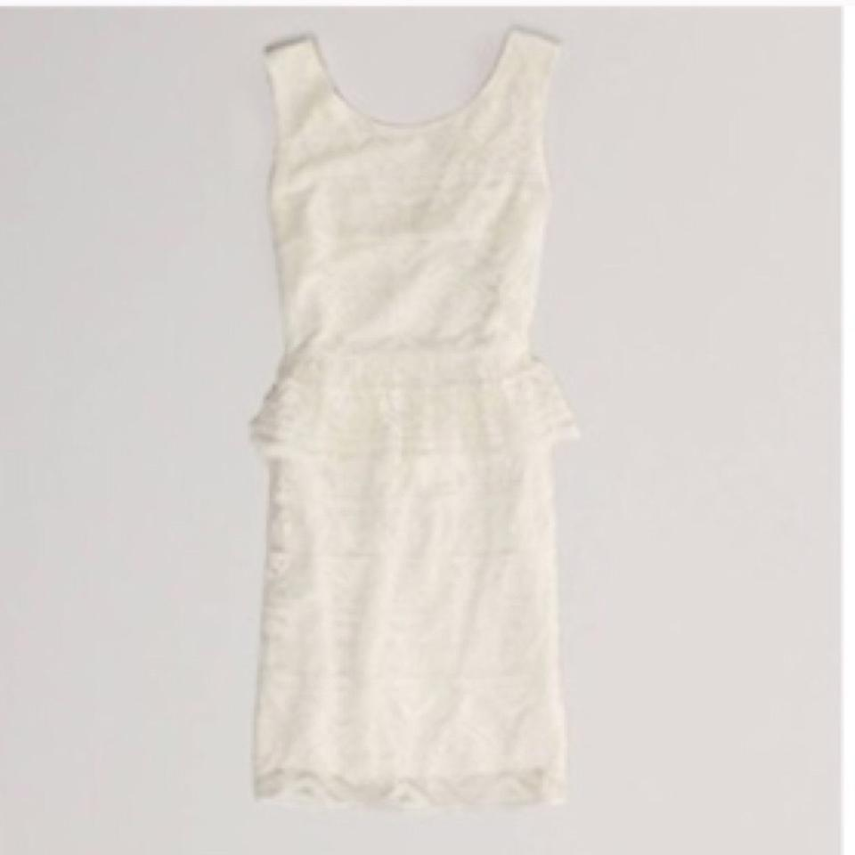 47f0931601 American Eagle Outfitters White Above Knee Short Casual Dress Size 4 ...