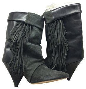 Isabel Marant Fringe Boot Bootie Gray Boots