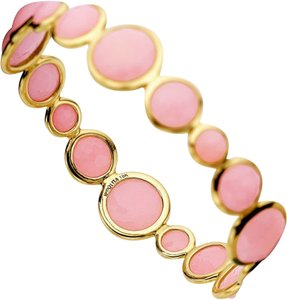 Ippolita Ippolita Pink Opal Bangle Bracelet!18k gold Abracadabra collection ret $4750