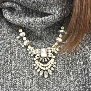 J.Crew Crystal Cluster Statement Necklace