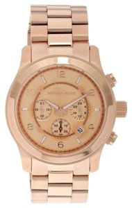 Michael Kors Oversized Runway Rose Gold-Tone Watch