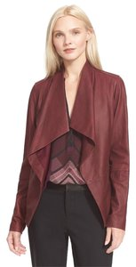 Vince Burgundy Leather Jacket